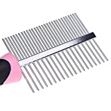Handy Pet Grooming Double Side Comb - Dog Cat Fleas Remove Comb for Long Haired Animal