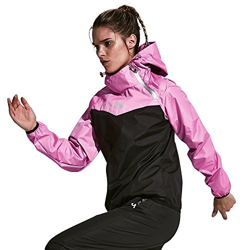 HOTSUIT Sauna Suit Women Weight Loss Boxing Gym Sweat Suits Workout Jacket, Rose Red, L (Best Sauna Suit To Lose Weight)