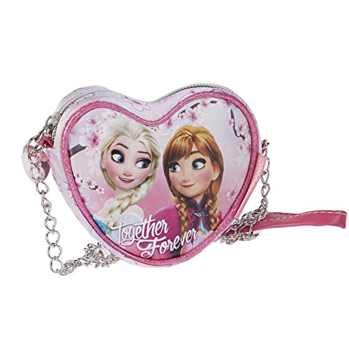 Bolso Frozen Disney Together Forever corazon cadena