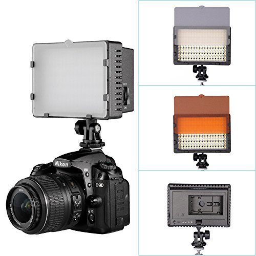 Neewer CN-160 LED Continuous Digital Camera / Camcorder Photo Video Lightning Kit, Includes: 160 LED Dimmable Ultra High Power Panel Light, 6 feet/1.9 meters Light Stand, Softbox, Battery and Charger