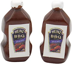 Walbest Dollhouse Food,2Pcs Dollhouse Sauce High Simulation Decoration Resin Mini Pretend Ketchup Barbecue Sauce for Kitchen A 2pcs