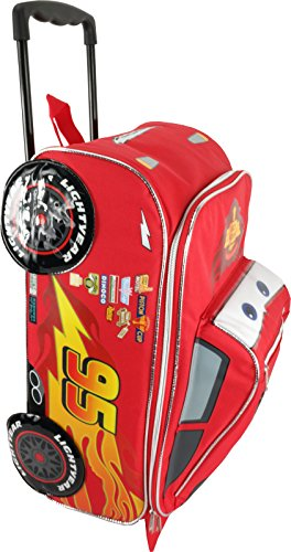 Disney Pixar Cars Rolling Lightning McQueen Luggage]()