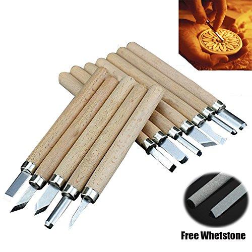 Wood Carving SK5 Steel Knife Graver Kit Wood Craft Tools Set - 7