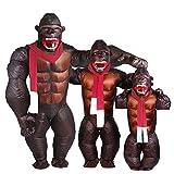 Adult Gorilla Inflatable Costume - Halloween Inflatable Costume Orangutan Gibbon Chimp Monkey Fancy Dress Blow Up Suit (Gorilla)