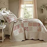BrylaneHome Isabella Floral Printed Patchwork Bedspread - Floral Multi, Full