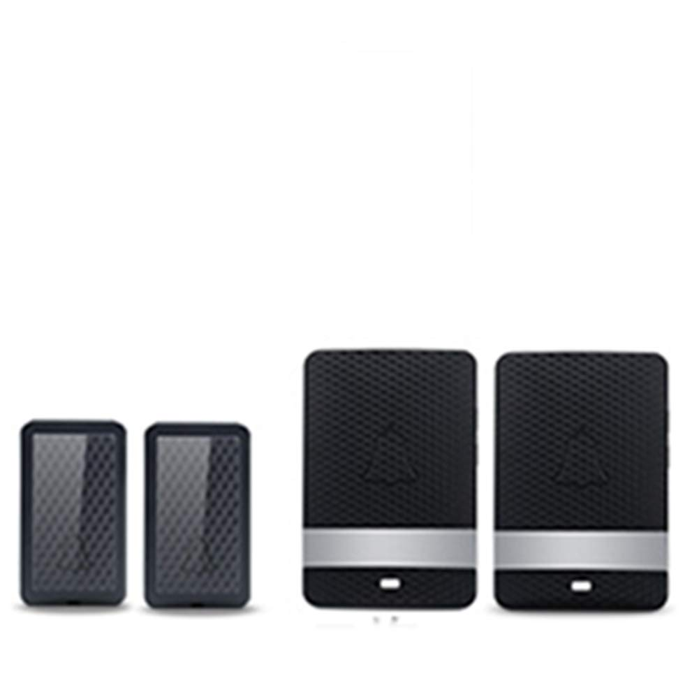 2transmitter+2receiver Wireless Home Waterproof Doorbell, Plug-in Receiver + Transmitter (Self-Powered), ABS Material, Family Company,2Transmitter+2Receiver