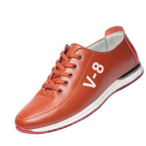 Gaorui Moda Uomo Casual Scarpe Traspiranti Sport Sneakers Stringate Appartamenti Bordo Giallo