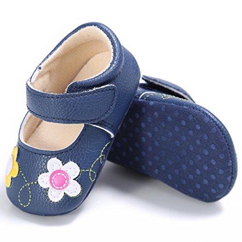 Zapatos de bebé, Switchali zapatos bebe niña Princesa verano Recién nacido Niña Cuna Suela blanda Antideslizante Zapatillas Bebé niña Flor vestir casual Azul