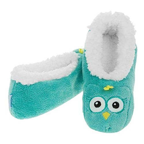 Womens Animal Coral Snoozies (Small, Owl)