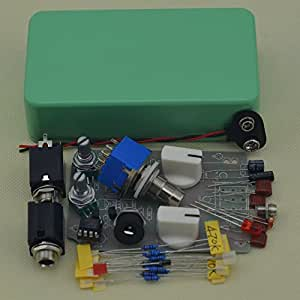 TTONE DIY Electic Guitar Compressor Single Effects Pedal Kit with 1590B Tender Green Case