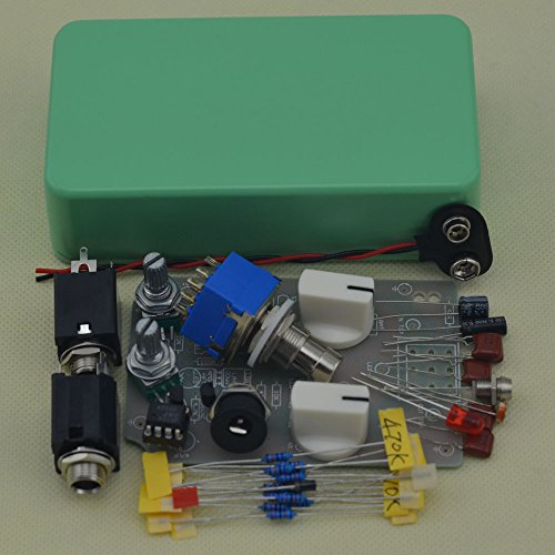 TTONE DIY Electic Guitar Compressor Single Effects Pedal Kit with 1590B Tender Green Case by TTONE