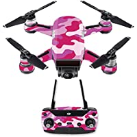 Skin for DJI Spark Mini Drone Combo - Pink Camo| MightySkins Protective, Durable, and Unique Vinyl Decal wrap cover | Easy To Apply, Remove, and Change Styles | Made in the USA