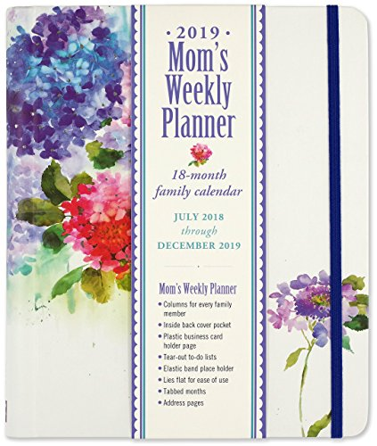 2019 Hydrangeas Mom's Weekly Planner (18-Month Family Calendar)