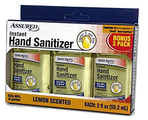 (Assured Instant Hand Sanitizer - Lemon - Kills 99% Germs - 3 Pack)