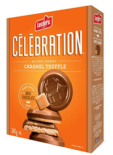 Celebration Caramels (Leclerc Celebration Caramel Truffle Butter Cookies Made with Real Milk Chocolate 240g)