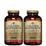 Solgar – Calcium Magnesium with Vitamin D3, 300 Tablets, 2 Pack – Supports Nerve and Muscle Function