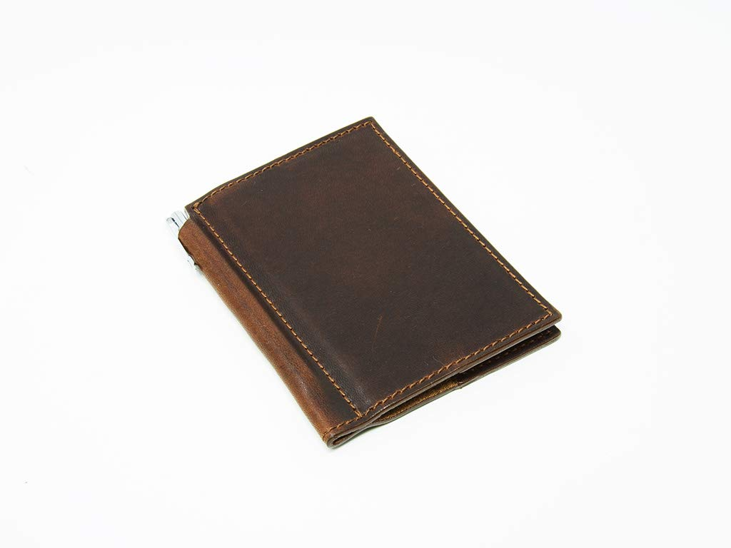 Mini Journal with Pen 3x4 in Horween Leather Cover Extra Small Moleskine Volant Notebook (Chestnut)