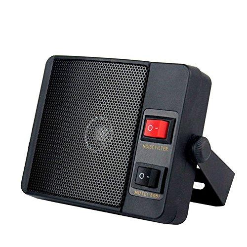 TOOGOO 3.5mm Diamante Carga Pesada TS-750 Altavoz Externo para walkie Talkie QYT YAESU ICOM Kenwood CB Radio bidireccional Radio movil del Coche 156925