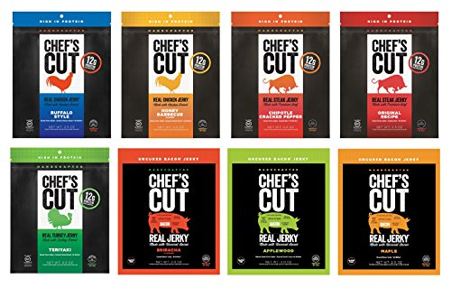 Chef's Cut Real Jerky, Ultimate Variety, 8 Count