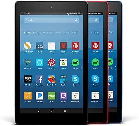 All-New Fire HD 8 Variety Pack, 16GB - Includes Special Offers (Black/Marine Blue/Punch Red)