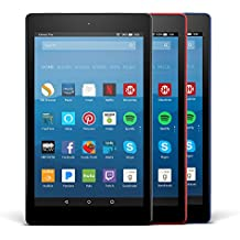 Fire HD 8 Variety Pack, 16GB - Includes Special Offers (Black/Marine Blue/Punch Red)