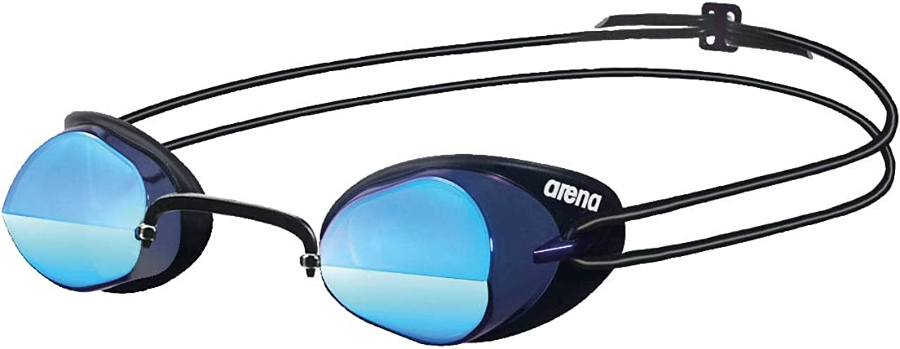 ARENA Swedix Mirror Gafas de Natación, Unisex Adulto, Negro/Azul (Smoke), Universal