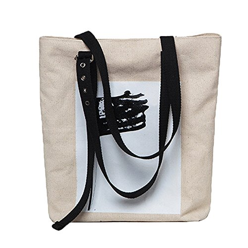 Shoulder Canvas Shopping Bag Canvas Simple SFE Bag Beige Flag Female Bag Tote Green Bag Shopping Bag Flag BqfXpP