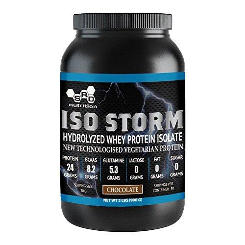 Isostorm, Whey Protein Powder, Hydrolyzed Whey, Vegetarian Protein, Chocolate, 2 Pound