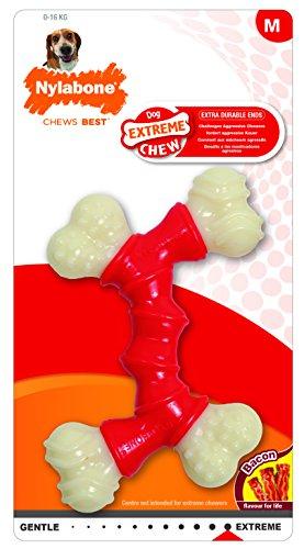 Nylabone Power Chew DuraChew Double Bone Bacon Dog Chew Toy, Medium
