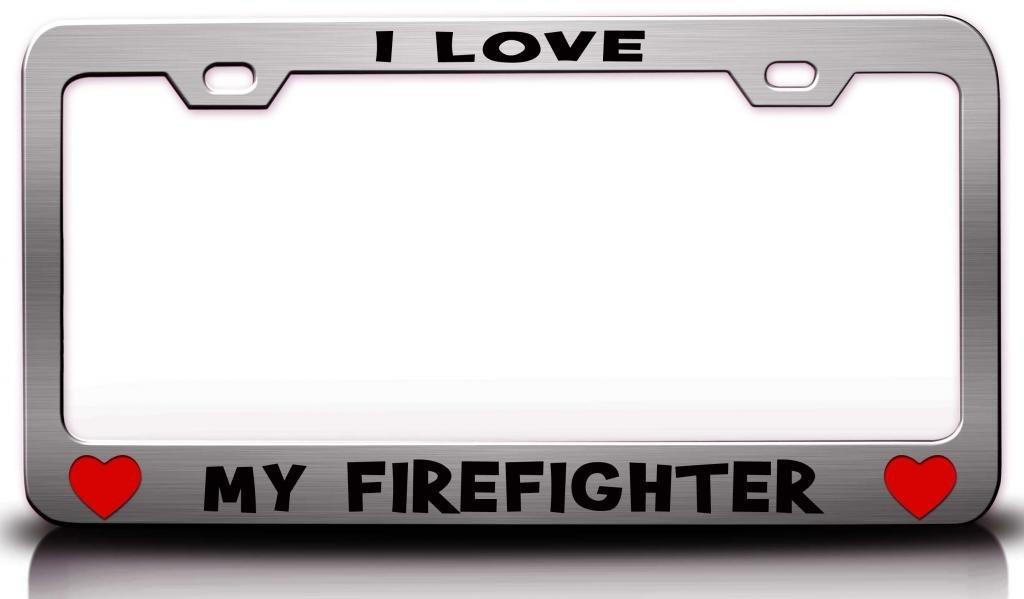 I love my Feuerwehr-Prinzessin Girly Girl-Nummernschildhalterung ...