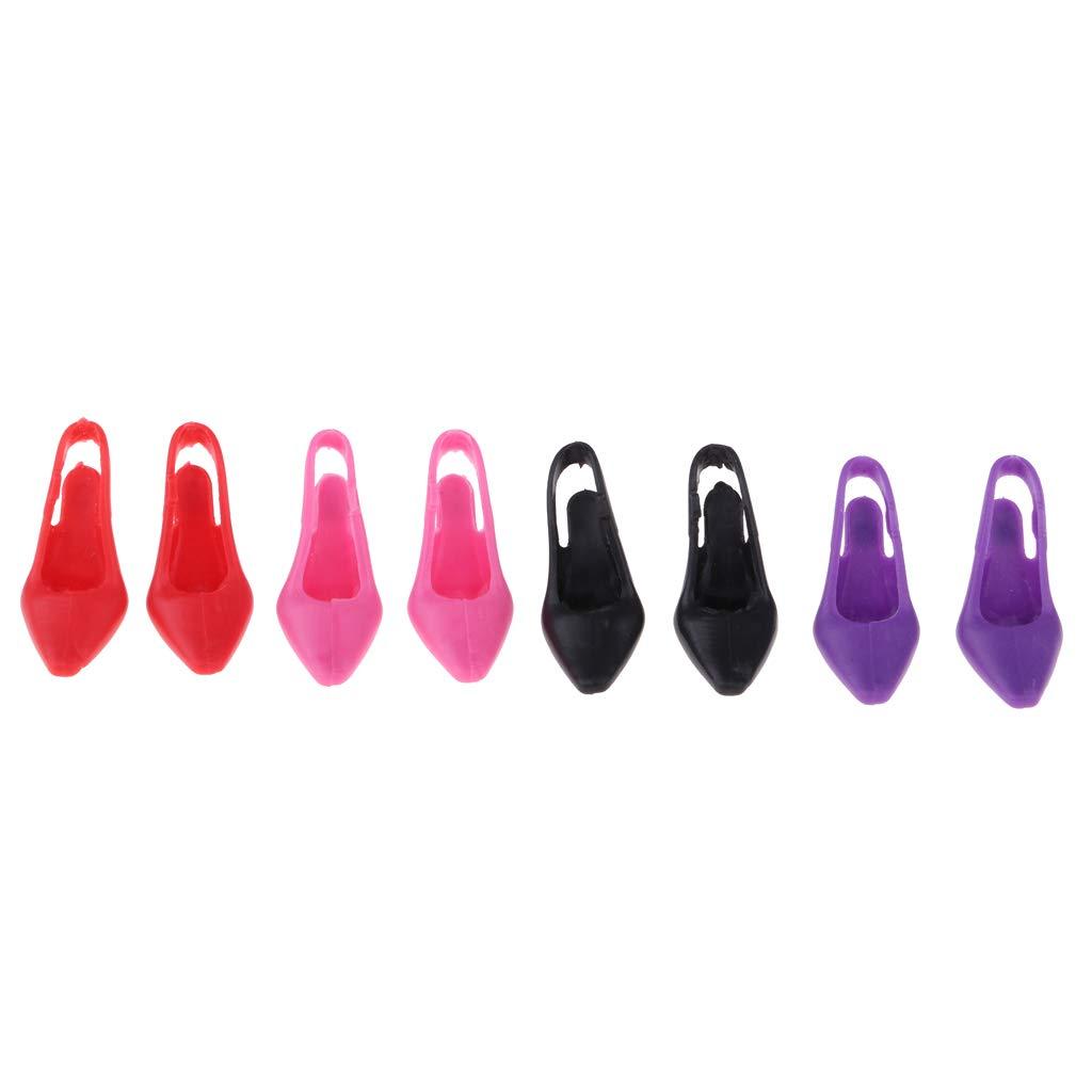 Multicolore Baoblaze 16 Paires Chaussures /à Talons Hauts pour 30cm Poup/ées