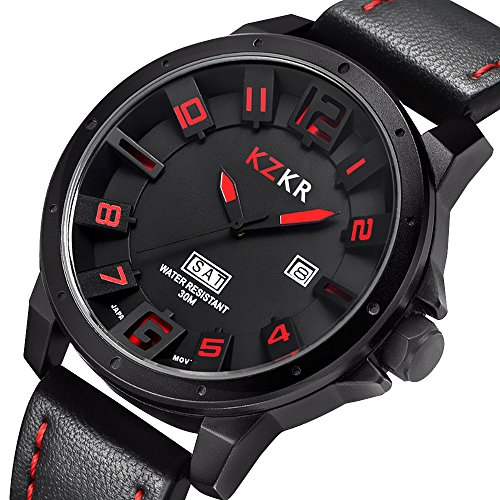 Zeiger New Mens Military Sport Digital Waterproof Army Field Wrist Watch, 3D Big Face Forces for Boyfriend Marine Corps Swiss Band
