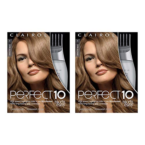 Clairol Nice 'n Easy Perfect 10, Women's Permanent Hair Color, 7 Dark Blonde, 2 Count