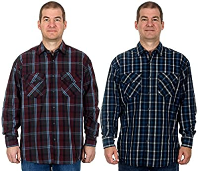 Men's Bold Plaid Long Sleeve Button Down Shirt