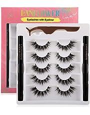Eyelashe with Eyeliner 4 pairs
