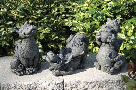 Exceptional Amazon.com : Little Darling Dragon Baby Pup U0027Butterflyu0027   Solid Cast Stone Garden  Statue   A Great Home Or Garden Idea   Durable, Lifelike Sculpture   Fun ...
