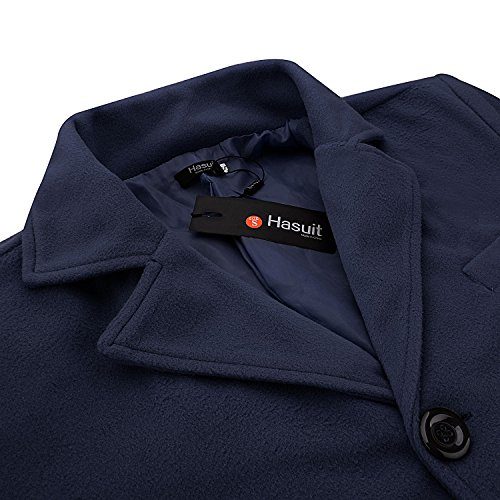 Hasuit Men's Single Breasted Notched Lapel Coat by Hasuit (Image #4)