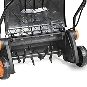 "VonHaus 12.5 Amp Corded 15"" Electric 2 in 1 Lawn Dethatcher Scarifier and Aerator with 5 Working Depths and 45L Collection Bag"