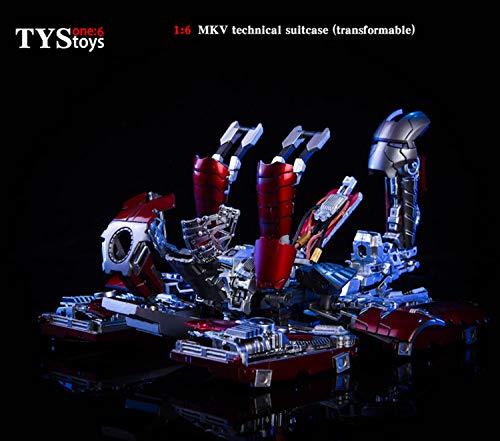 [해외] 【RDOLL】 1/6 피규어 큐빅스톤 소체용상자 박스 캐리어 IRONMAN MK5 MKV 모형가동 포즈가조정 병사람 코스프레 소형 소드(sword)구 장난감 액세서리
