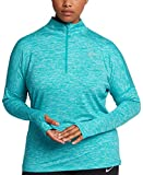 NIKE Womens Plus Running Fitness 1/4 Zip Pullover Green 1X