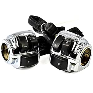 1 handlebar chrome horn turn signal headlight. Black Bedroom Furniture Sets. Home Design Ideas