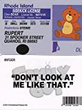 Signs4Fun Rupert The Teddy Bear of The Family Guy Fun Fake id Card / Drivers License