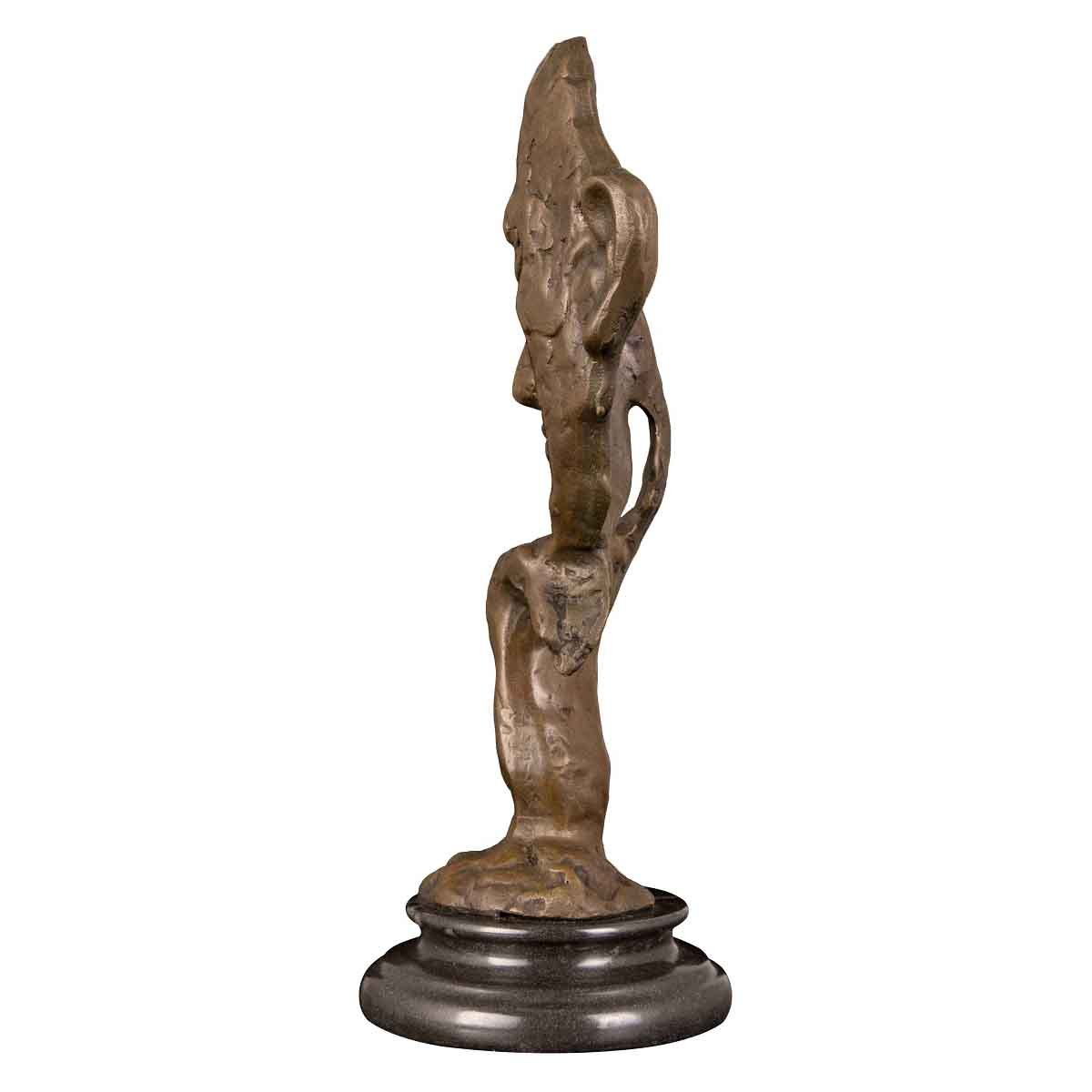 Abstract Modern Art Model Woman Figurine By Dali Decor Bronze Sculpture Statue Durable In Use Art
