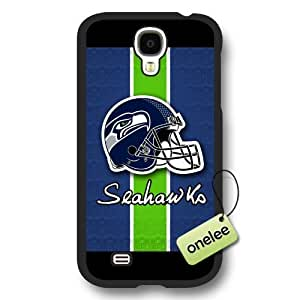 Personalize NFL Seattle Seahawks Logo Frosted Black Samsung Galaxy S4 Case Cover - Black wangjiang maoyi by lolosakes