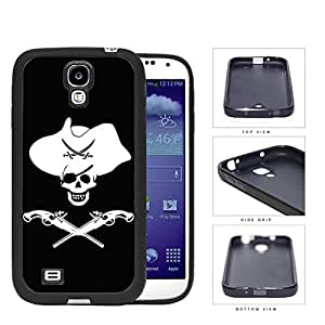 Pirate Skull Western Theme Rubber Silicone TPU Cell Phone Case Samsung Galaxy S4 SIV I9500