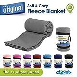 Cloudz Fleece Travel Blanket - Grey