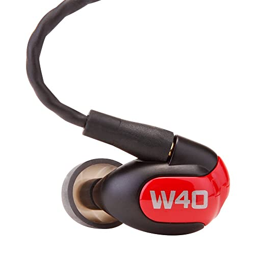 Westone W40 Four-Driver True-Fit Earphones With MMCX Audio Cable And 3 Button MFi Cable With Microphone