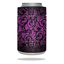 MightySkins Protective Vinyl Skin Decal for YETI Rambler Colster wrap cover sticker skins Purple Style