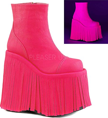 H Leather Neon SLAY Demonia Vegan Pink 205 Cx0qtxPYU