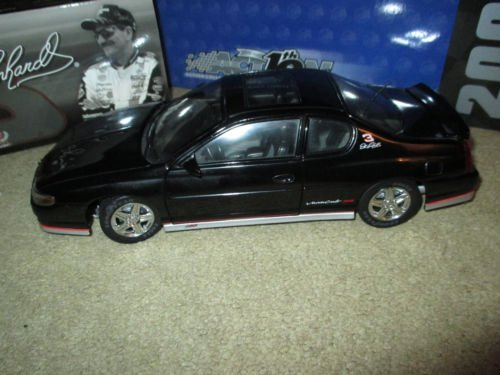 2002 Dale Earnhardt Sr #3 Street Version Monte Carlo SS 1/18 Scale Hood Opens Action Racing Collectibles Limited Edition (Left Side View Mirror Broken Off) ()